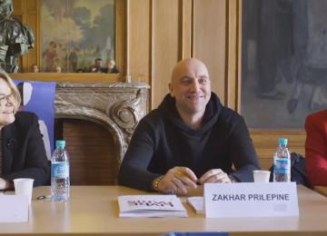 L'écrivain et son traducteur – Zakhar Prilépine et Joëlle Dublanchet