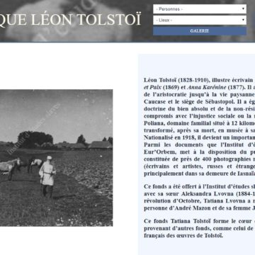 Fonds documentaires Léon Tolstoï